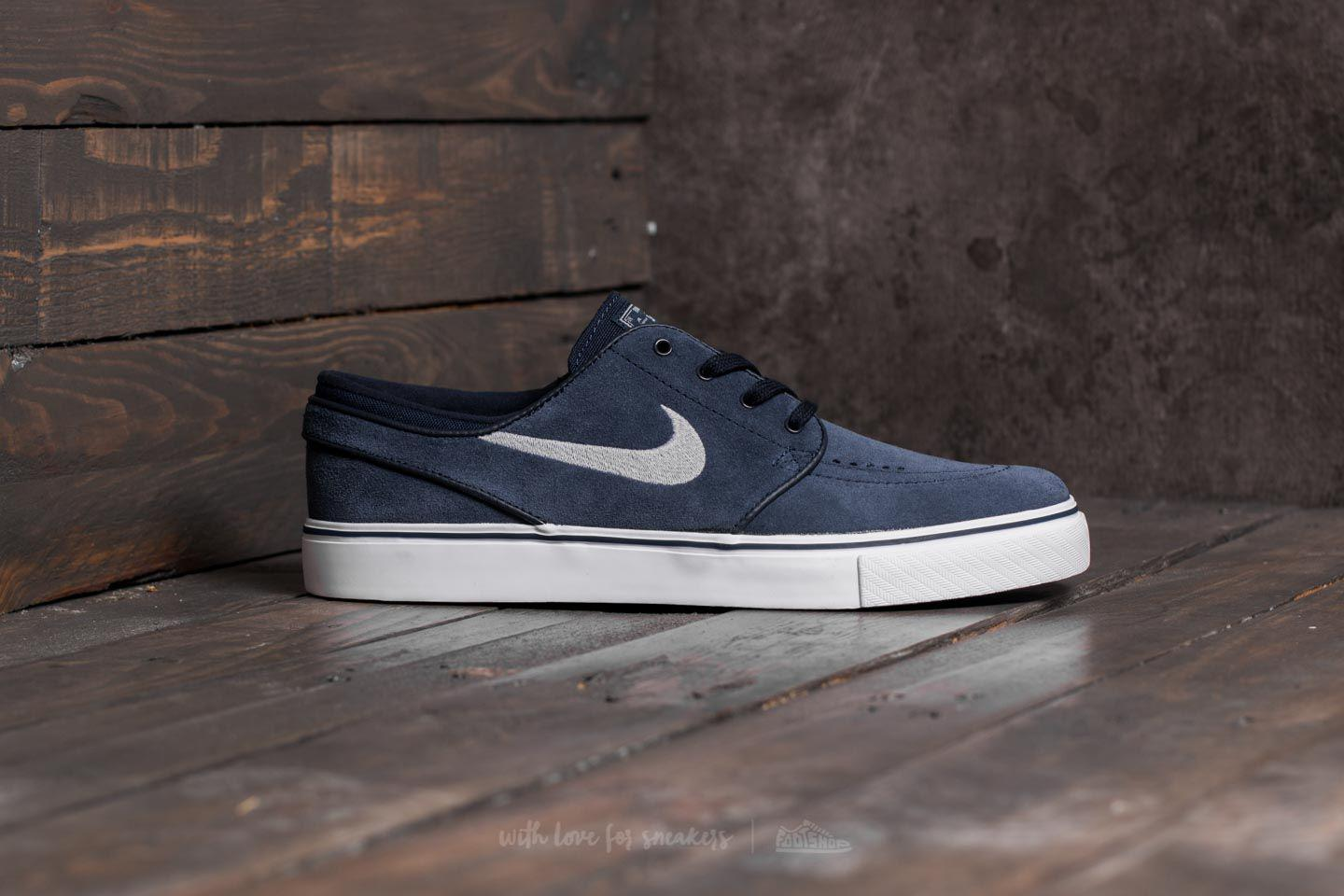 wholesale dealer 12450 6b898 Nike Zoom Stefan Janoski Obsidian  Wolf Grey-black-white in Gray for ...