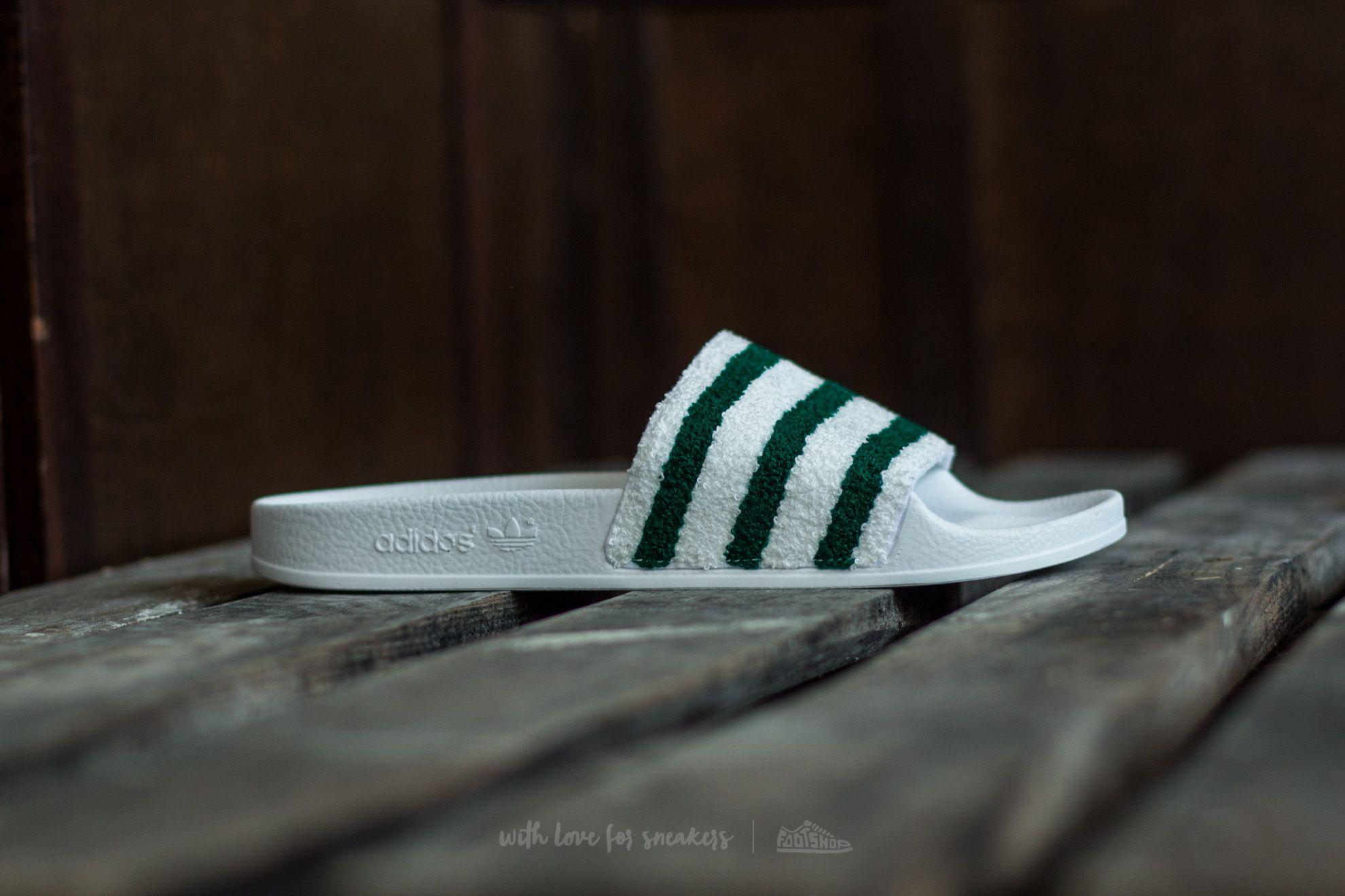 6548cb575d75 Lyst - adidas Originals Adidas Adilette Ftw White  Sub Green  Ftw ...