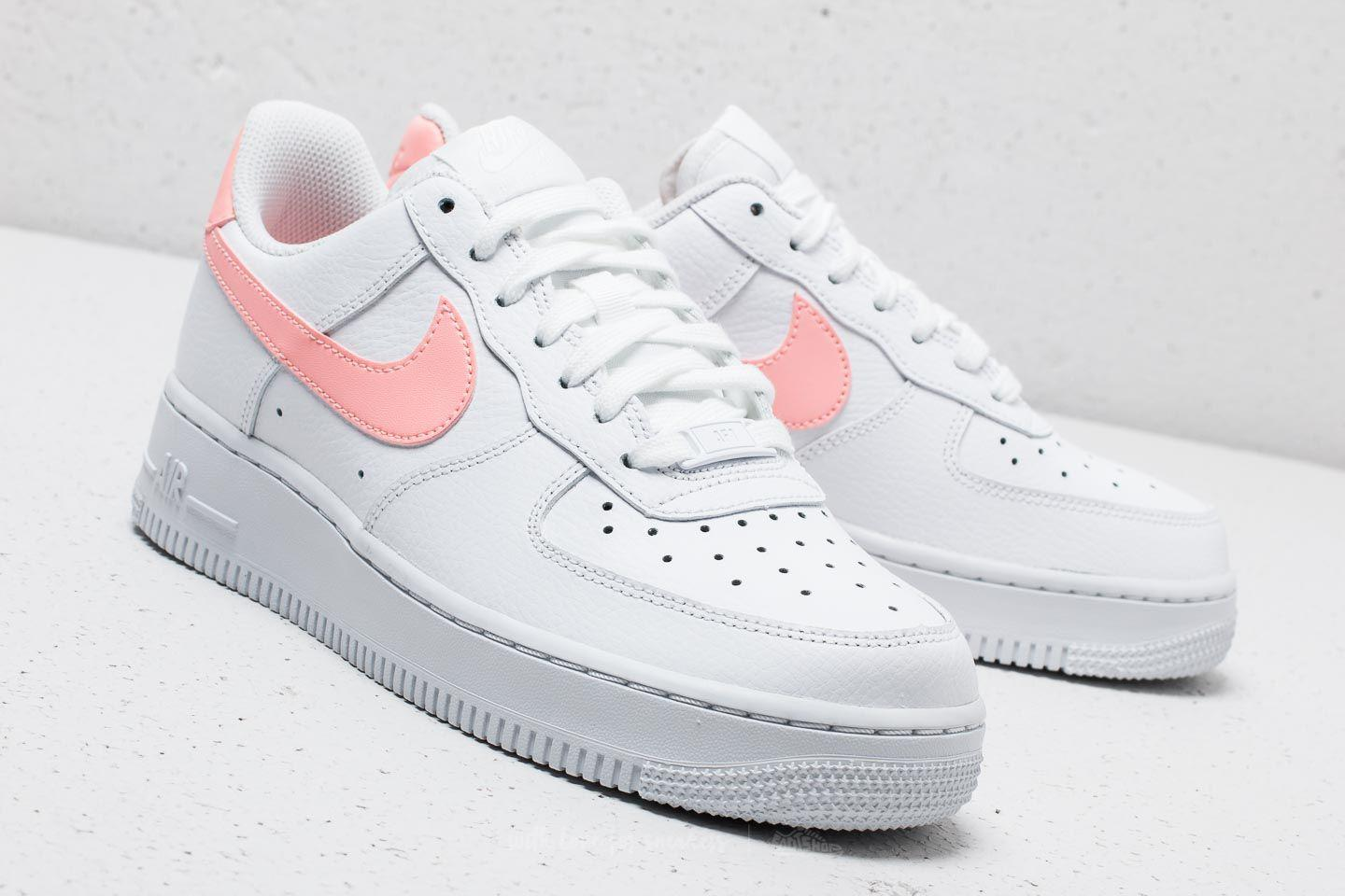 f12b4f23901f Lyst - Nike Wmns Air Force 1  07 White  Oracle Pink-white in White