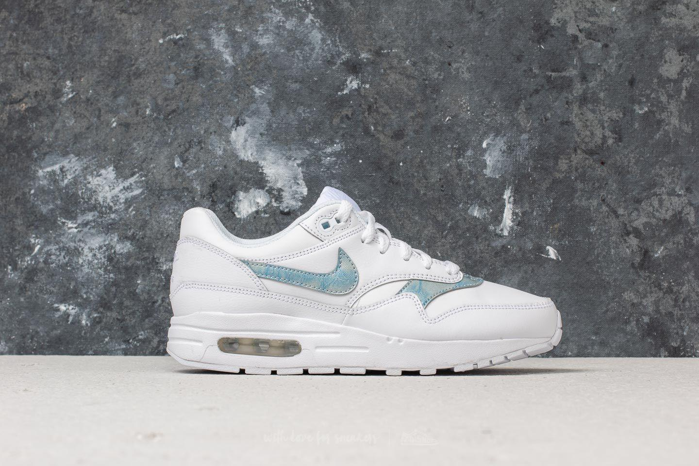 new arrival 855d8 fc851 Nike Air Max 1 (gs) White  Royal Tint-white in White - Lyst