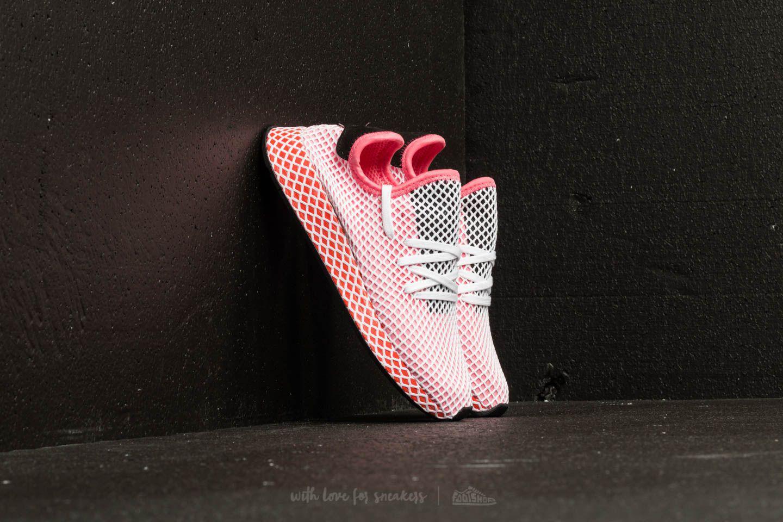 27d59a5aecfa6 Lyst - adidas Originals Adidas Deerupt Runner W Chalk Pink  Chalk ...