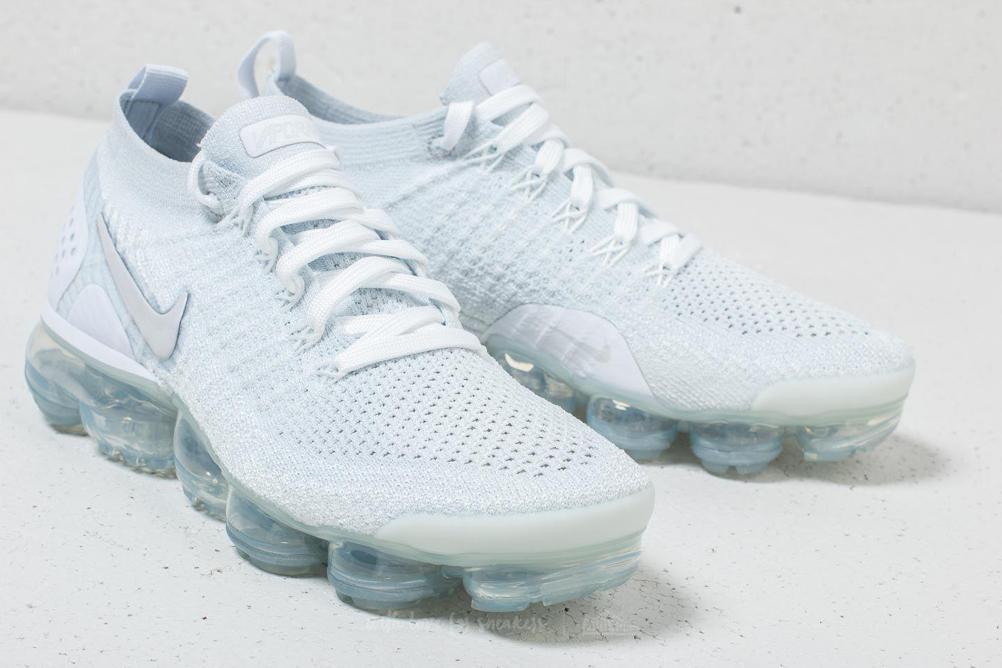 59c5ddf64730a Lyst - Nike Air Vapormax Flyknit 2 W White  White-vast Grey in White