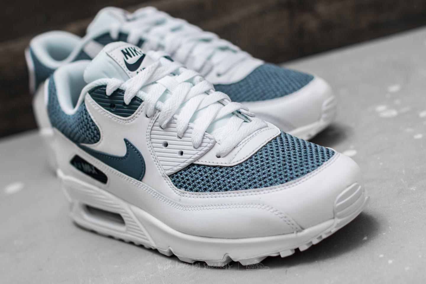 on sale fd81d b8140 ... 537384 133 Source · Lyst Nike Air Max 90 Essential White Armory Blue  armory Blue in