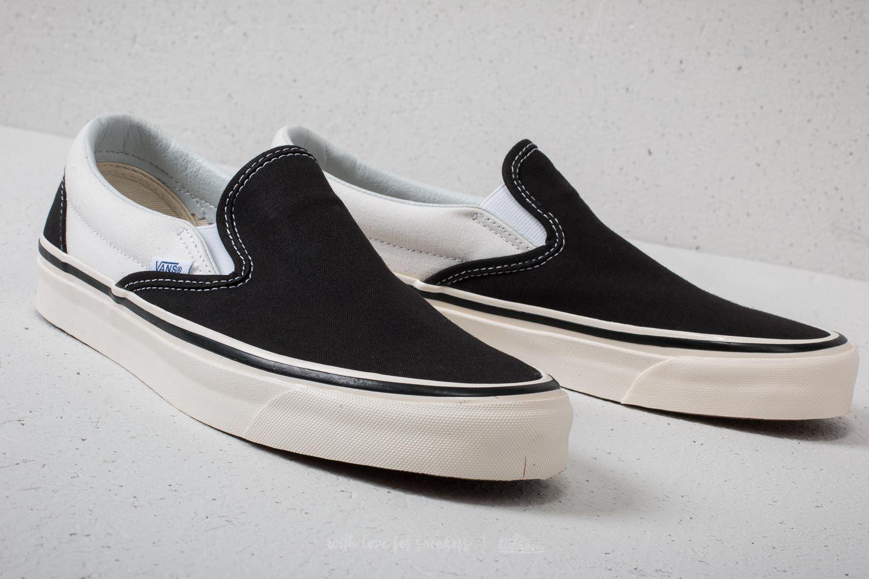 dd67338183 Lyst - Vans Classic Slip-on 9 (anaheim Factory) Black  White for Men