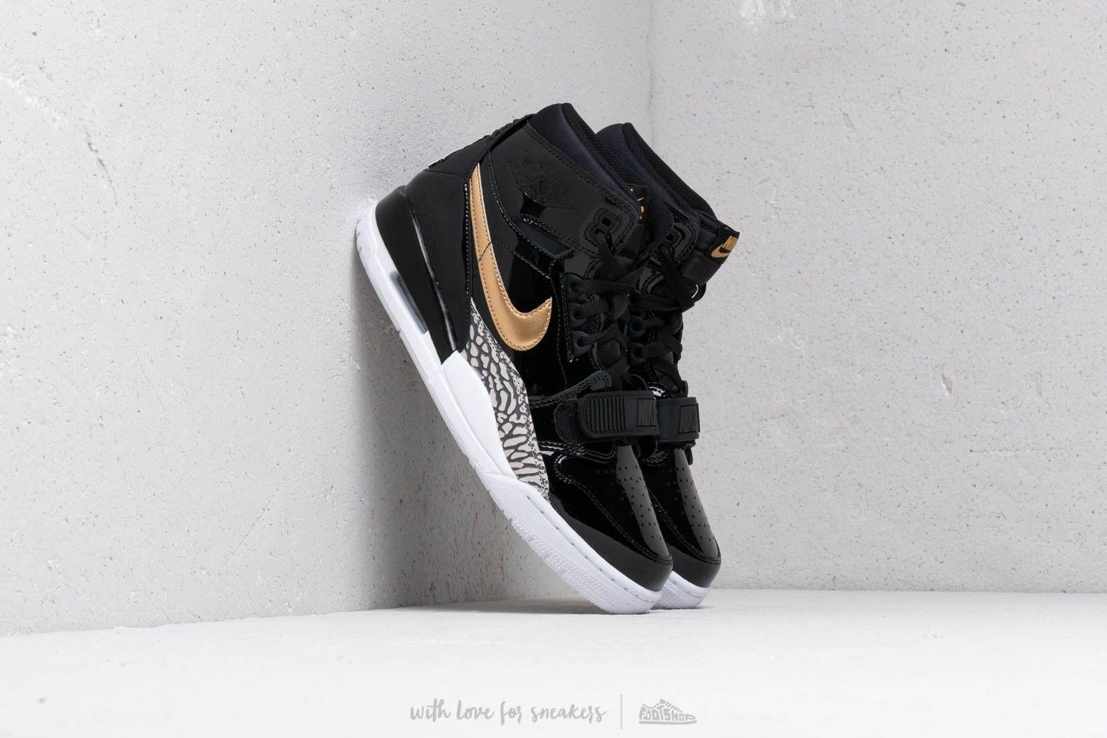 finest selection e169e 0658e Lyst - Nike Air Jordan Legacy 312 Black Metallic Gold White
