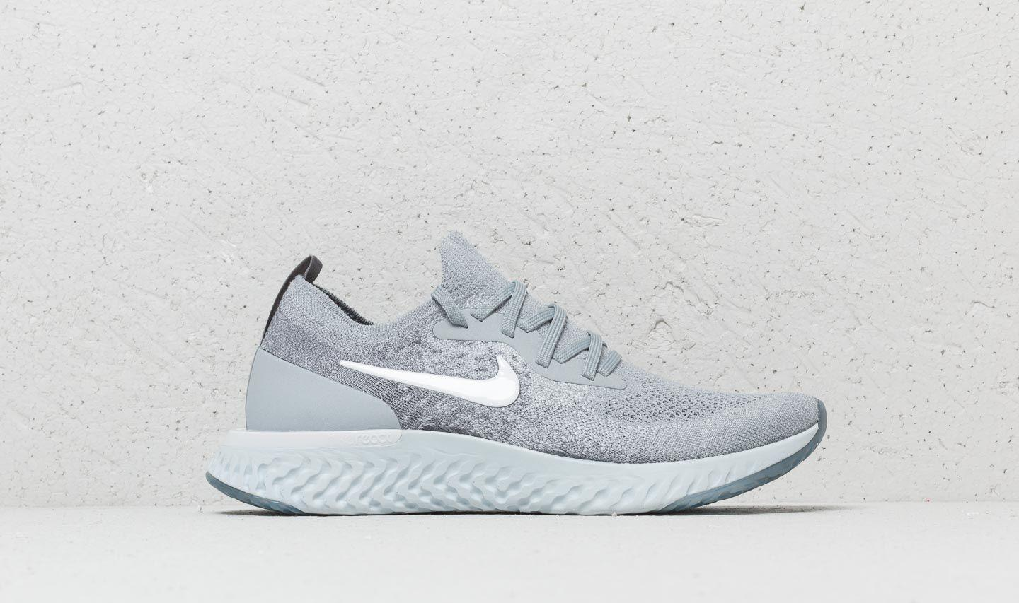 bc17593f23ad Lyst - Nike Epic React Flyknit Sneakers in Gray - Save 51%