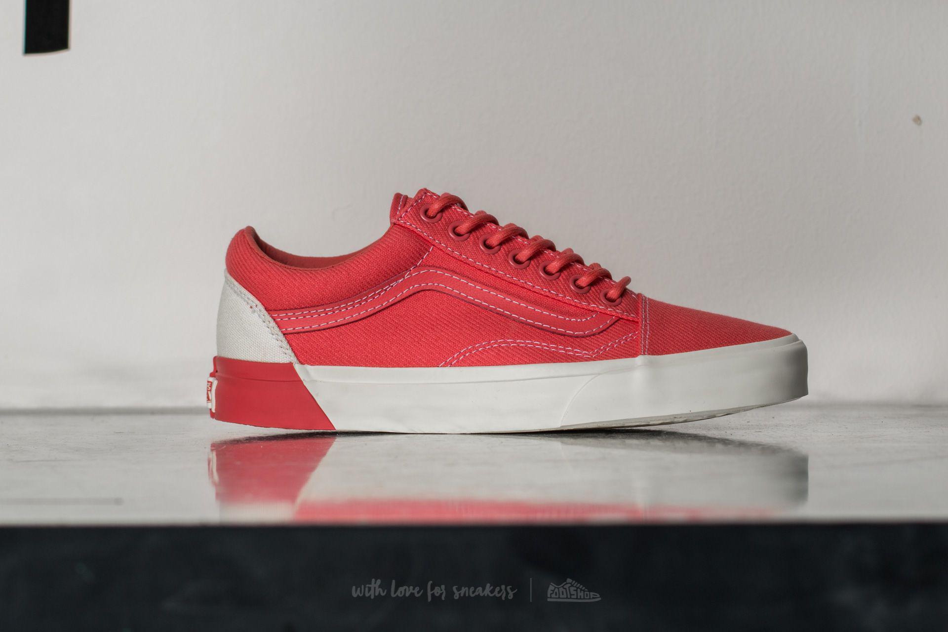 8c2e0f9daa Lyst - Vans Old Skool Dx (blocked) Classic White  D in Red for Men