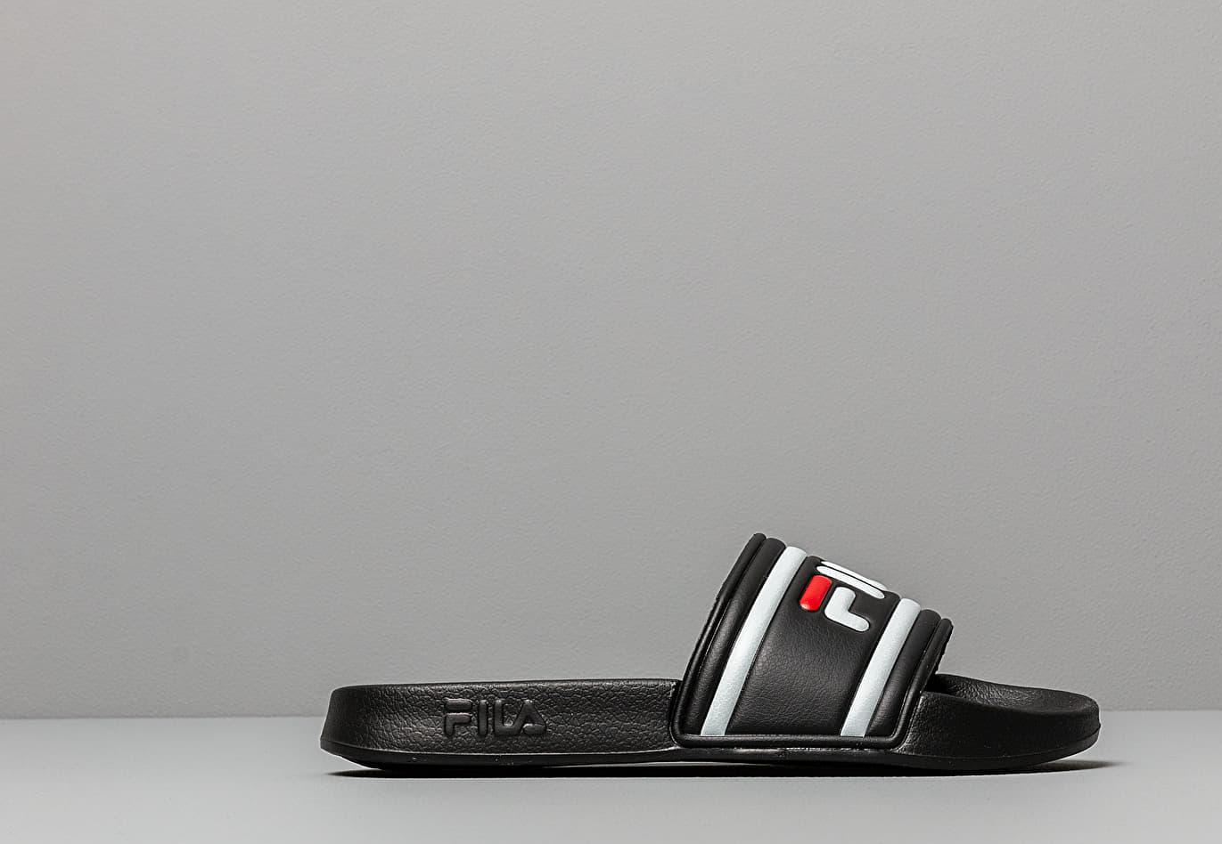 a989c807bdd8 Fila - Black Morro Bay Slide Sandals for Men - Lyst. View fullscreen