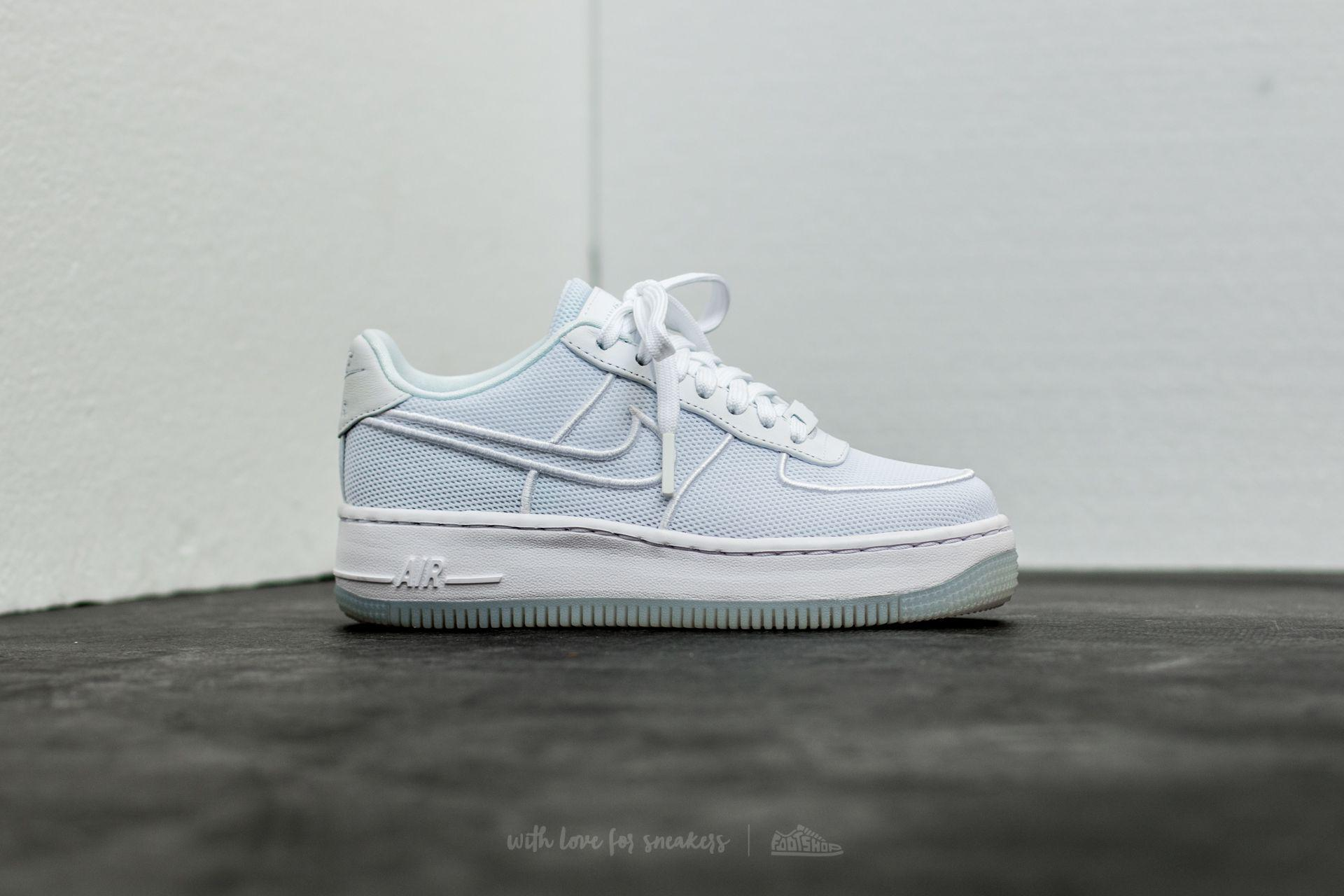 97128dccbef Lyst - Nike W Air Force 1 Low Upstep Br White  White-glacier Blue in ...