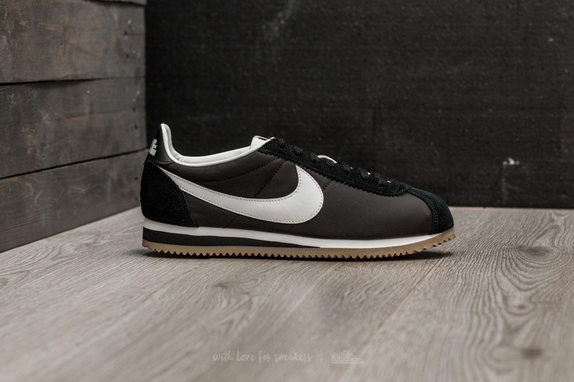 sports shoes f0707 12c02 Nike Classic Cortez Nylon Premium Black  Sail-gum Light Brown in ...