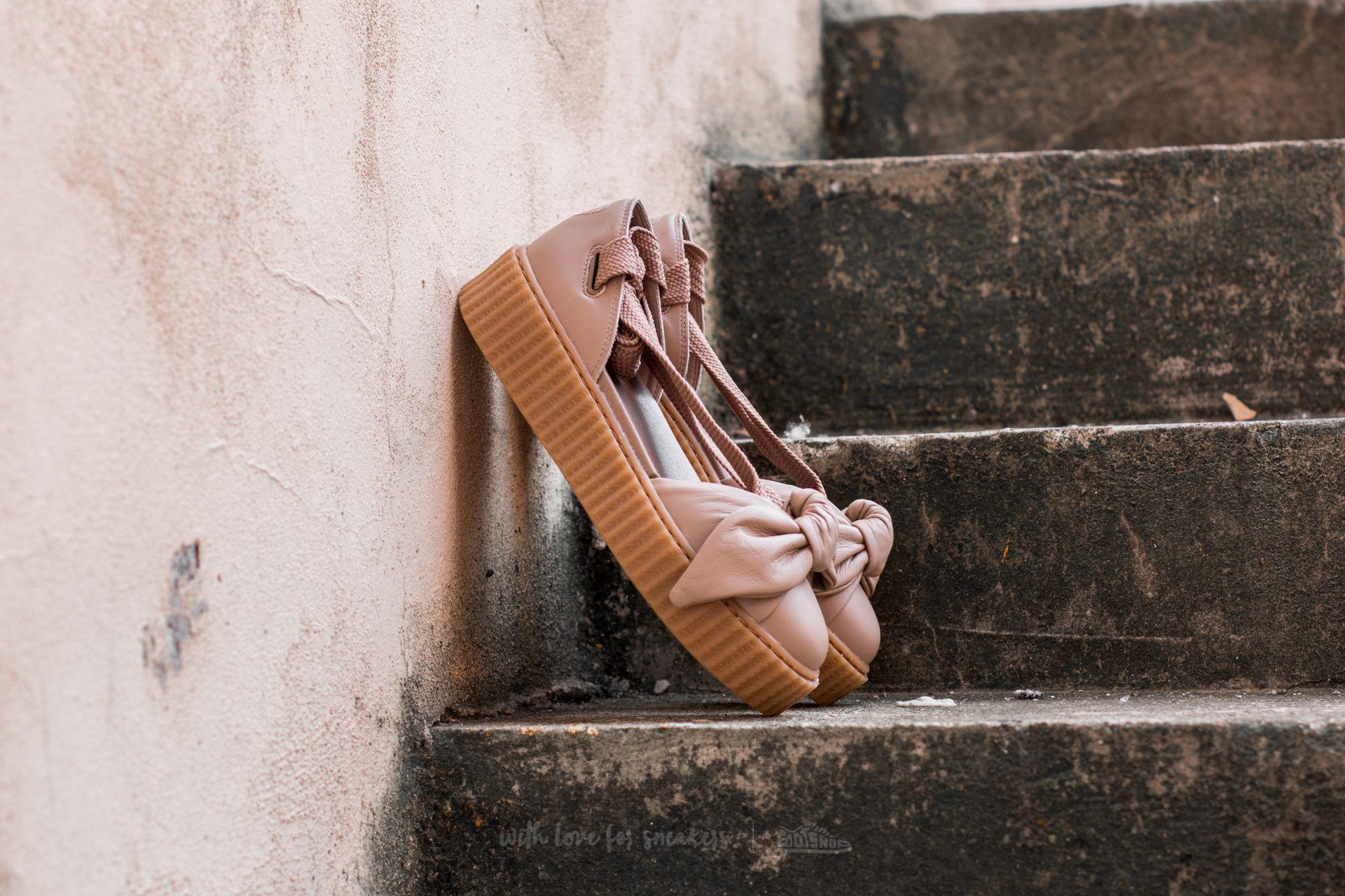 Lyst - PUMA X Rihanna Bow Creeper Sandal Natural-natural-oatmeal 85bcc9dab