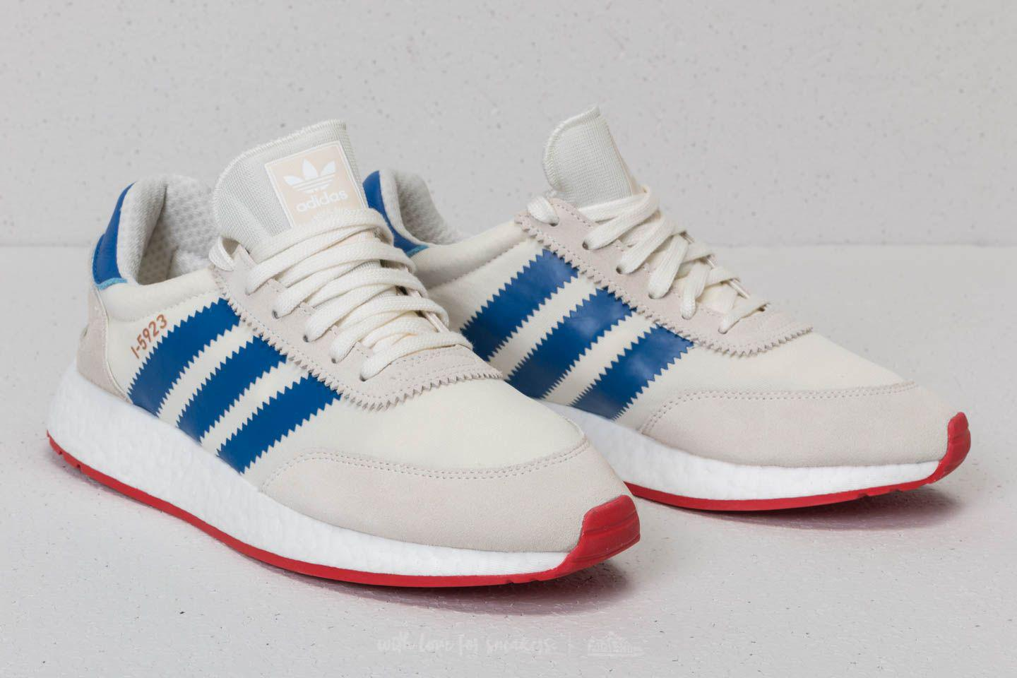 Men's Adidas I 5923 Off White Blue Core Red