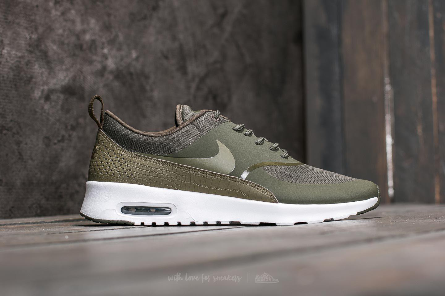 various colors 50eac af46c Nike W Air Max Thea Cargo Khaki  Medium Olive  White - Lyst