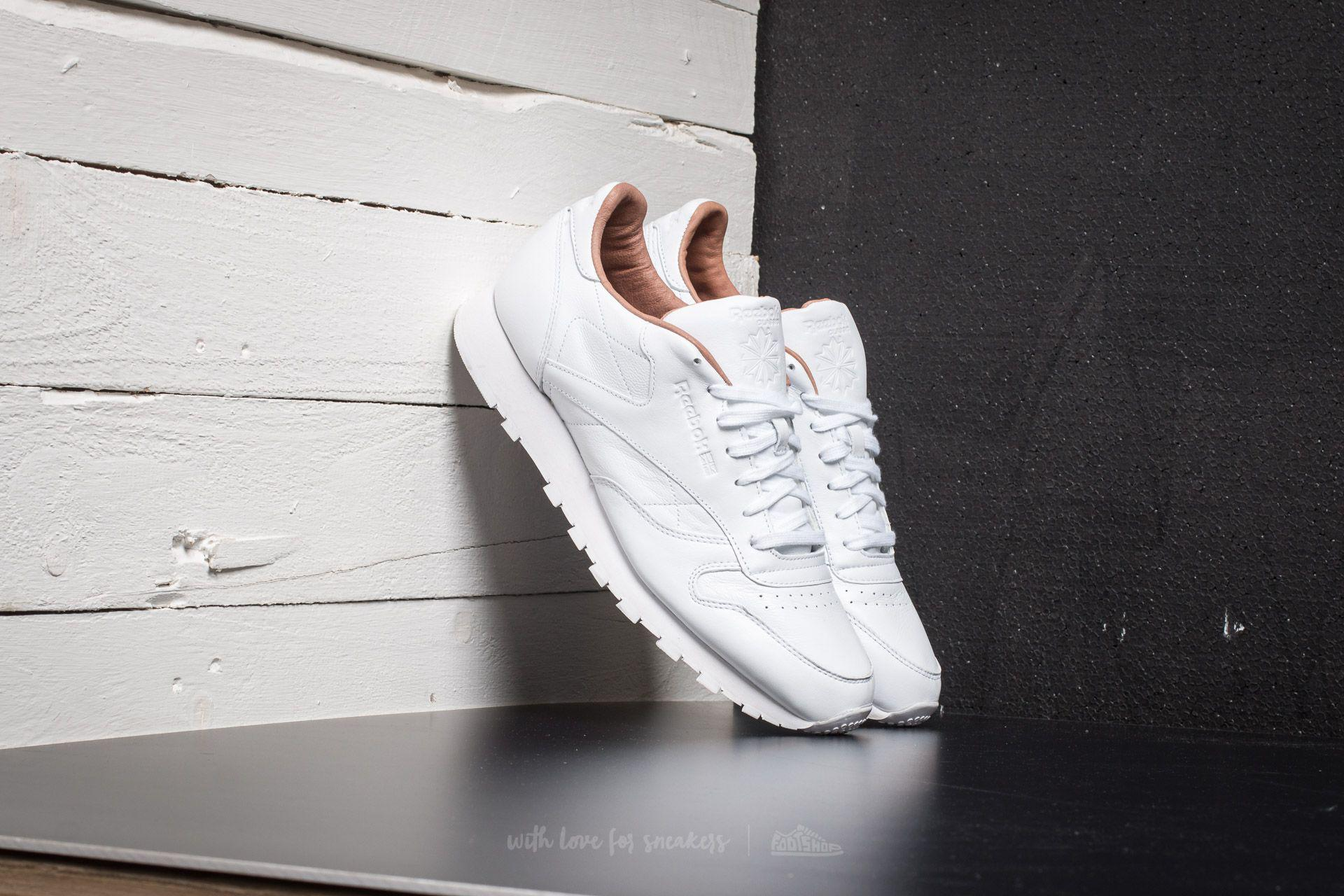 3c5b0bb6f38030 Lyst - Reebok Classic Leather Pn White in White for Men