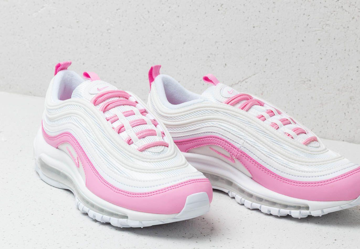 b4648b2291 Nike W Air Max 97 Ess White/ Psychic Pink in White - Save 22% - Lyst