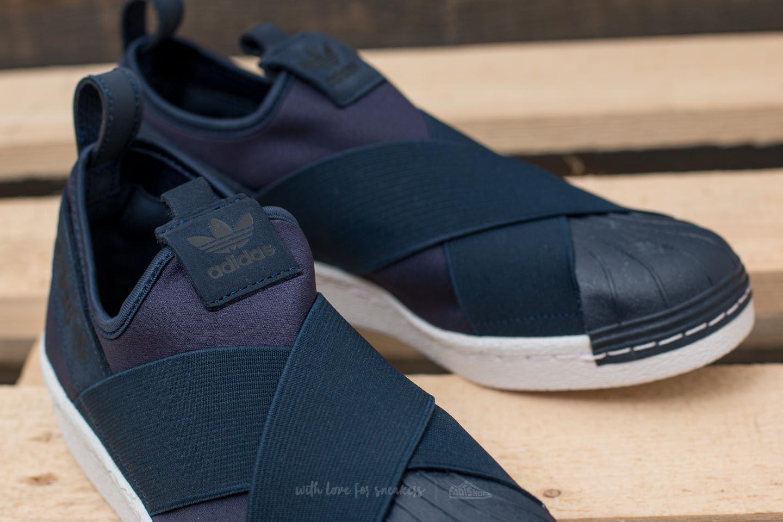 b59e04fae0ba Lyst - adidas Originals Adidas Superstar Slip On Collegiate Navy ...