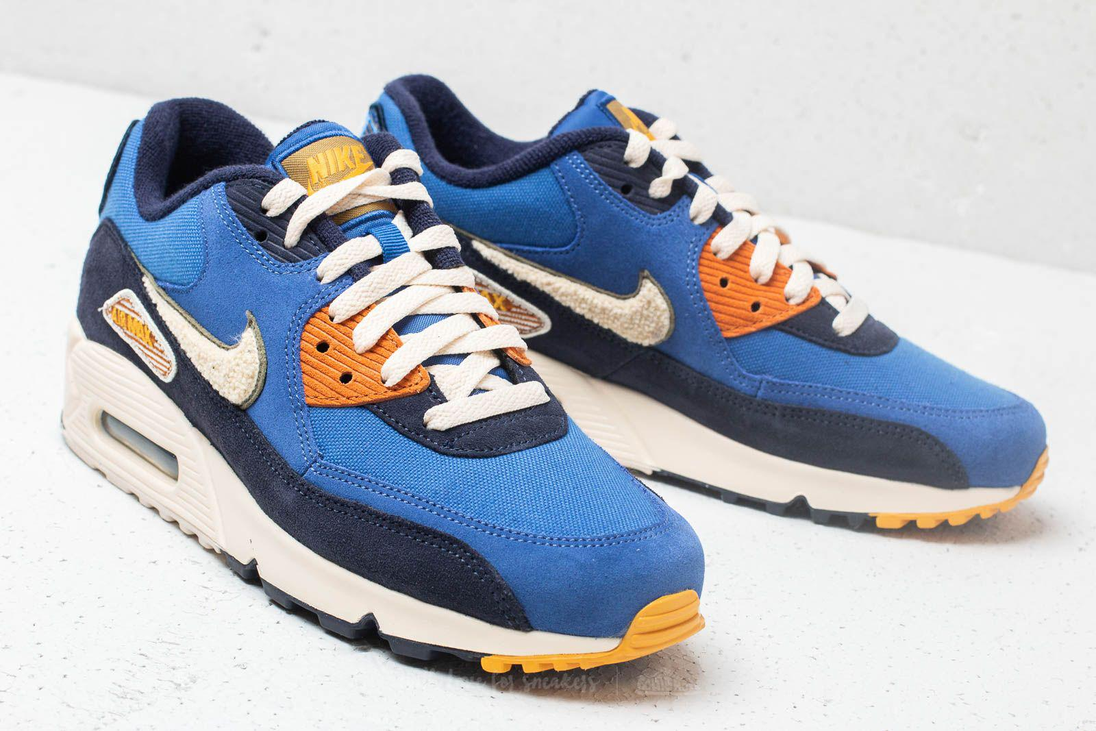 Lyst - Nike Air Max 90 Premium Se Game Royal  Light Cream in Blue ... 84c00c70a