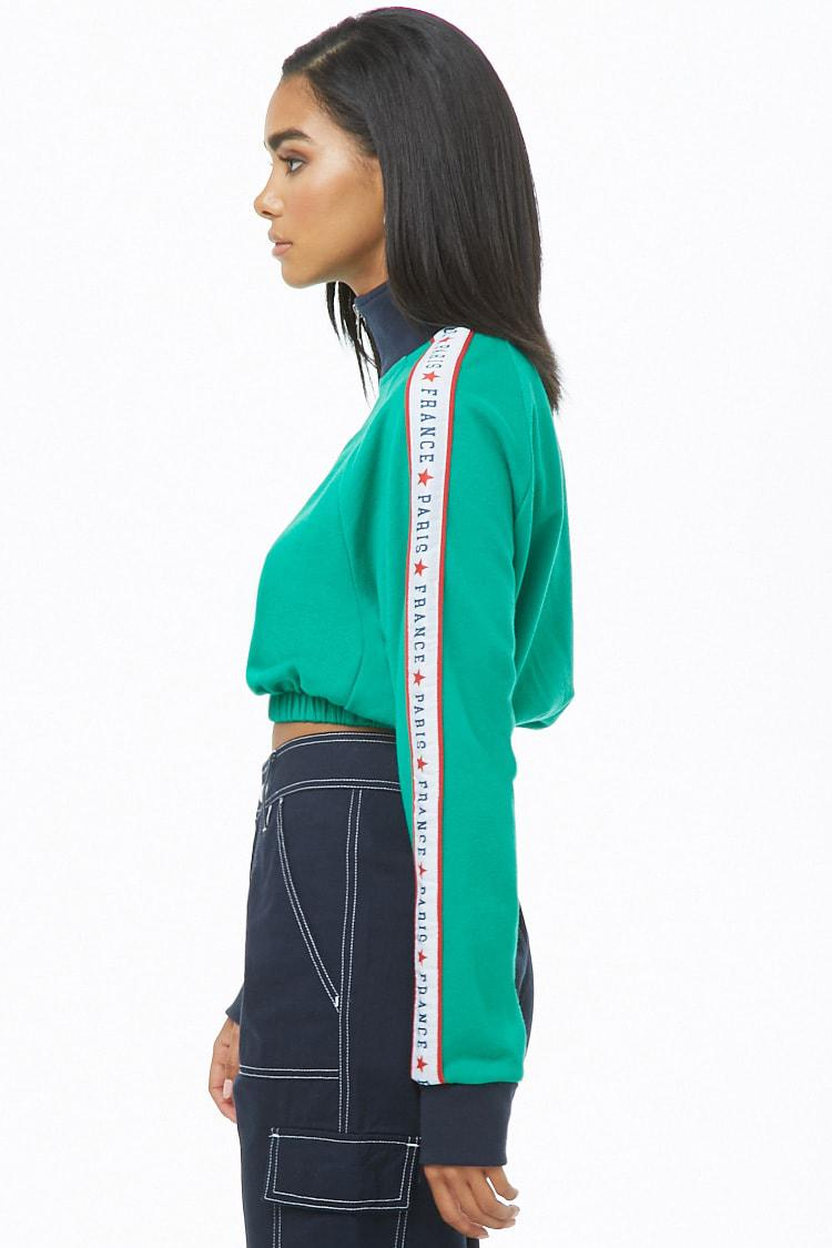 713e35dbffe Forever 21 - Green Colorblock Paris Graphic Joggers - Lyst. View fullscreen