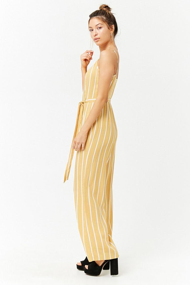 e5a21ba6b13 Forever 21 - Yellow Striped Cami Jumpsuit - Lyst. View fullscreen