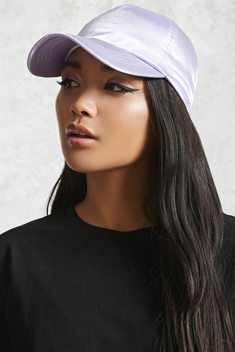 Lyst - Forever 21 Satin Baseball Cap in Purple - Save 63% d0c09a076416
