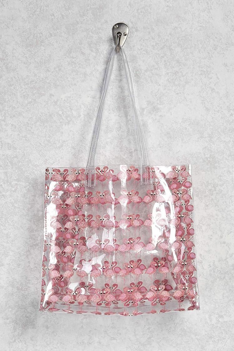 Lyst Forever 21 Flamingo Print Clear Tote