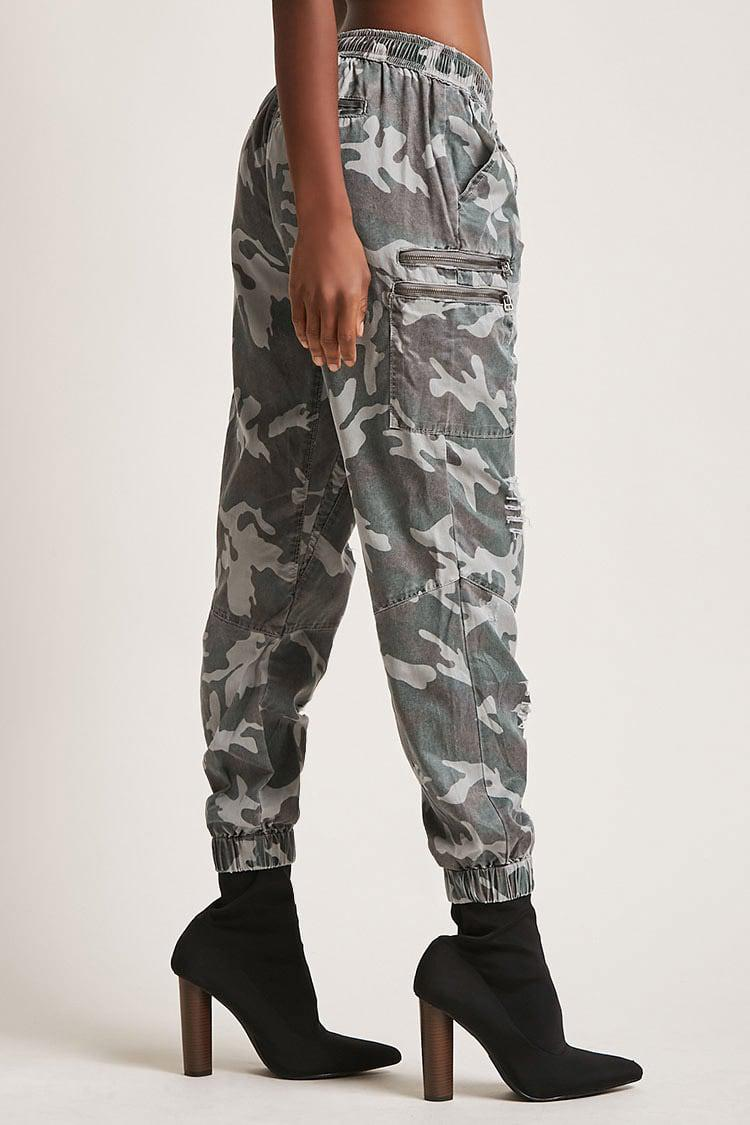 a9df968790dc Lyst - Forever 21 Vintage Havana Camo Joggers in Gray