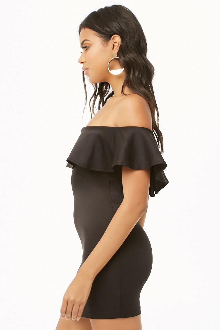 1b6589d5e1e2 ... Off-the-shoulder Flounce Dress - Lyst. View fullscreen
