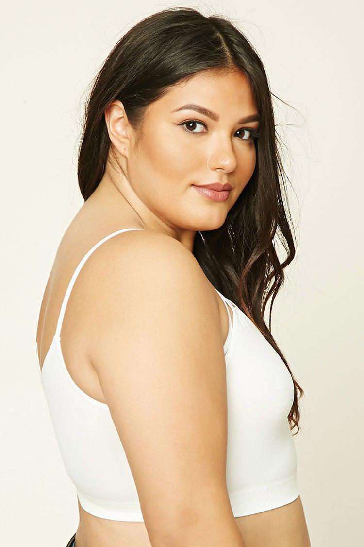 33c454043d22bd Forever 21 Plus Size Caged-cutout Bralette in White - Lyst