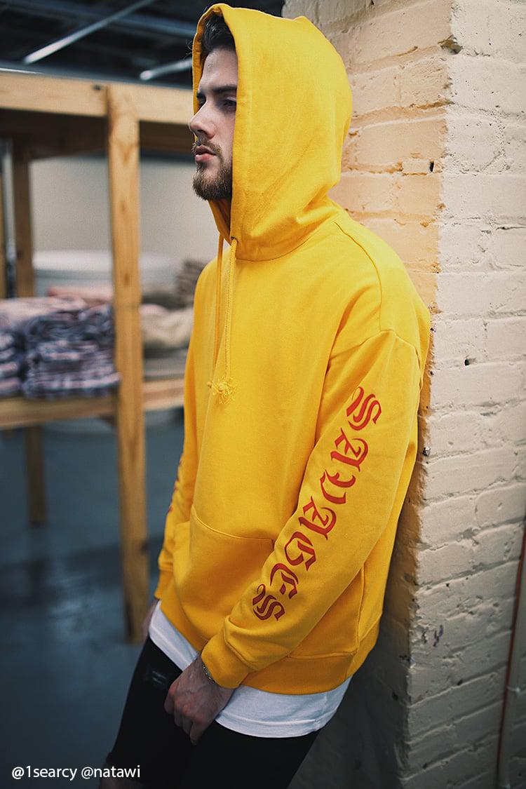 Lyst Forever 21 Savages Graphic Sleeve Hoodie In Yellow For Men