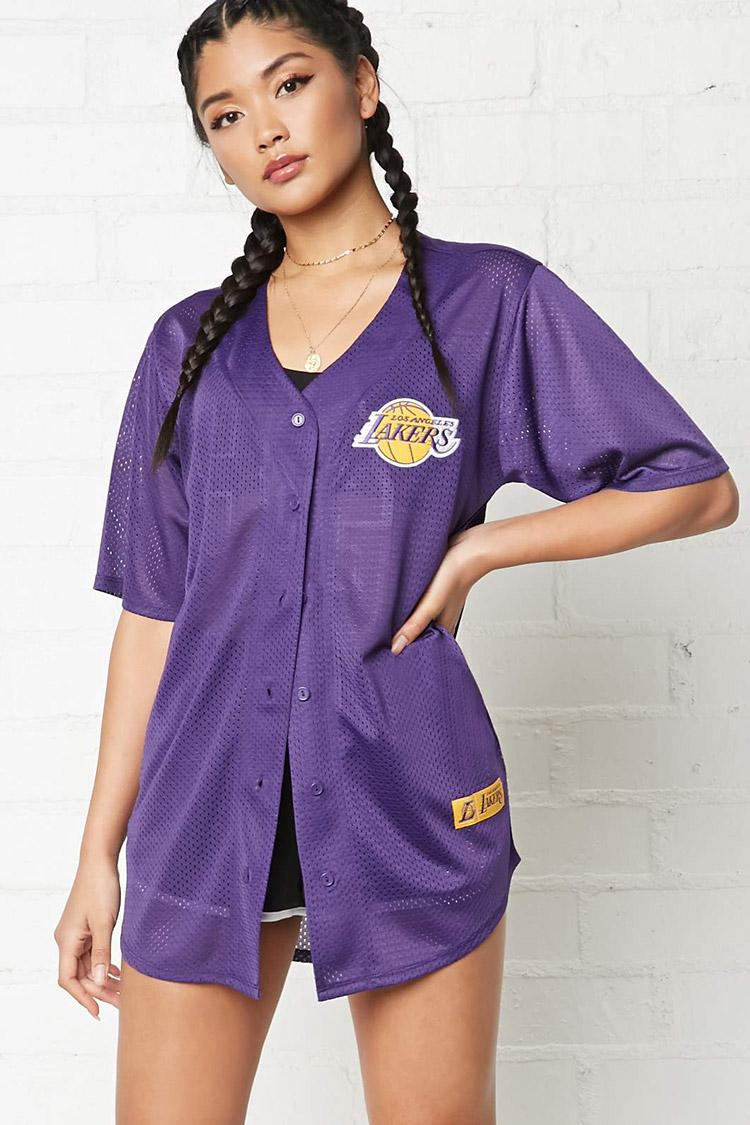 e82cf102643 Forever 21 Nba Lakers Jersey Shirt in Purple - Lyst