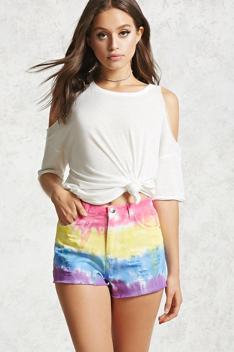 lyst forever 21 denim shorts