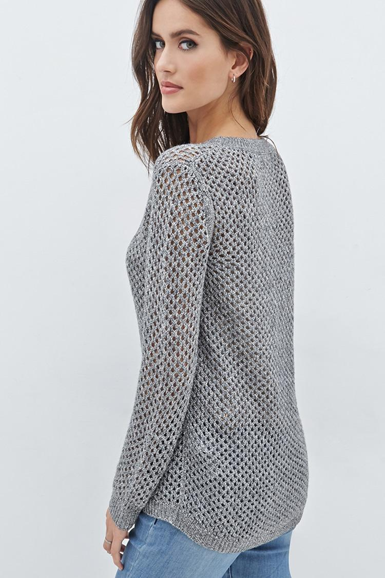Lyst Forever 21 Gone Glam Sweater In Gray
