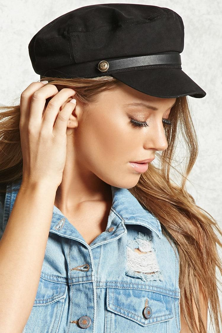Forever 21 Corduroy Cabby Hat in Black - Lyst fb0b5d75c54