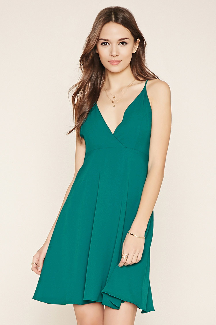 Lyst - Forever 21 Contemporary Strappy Dress in Green