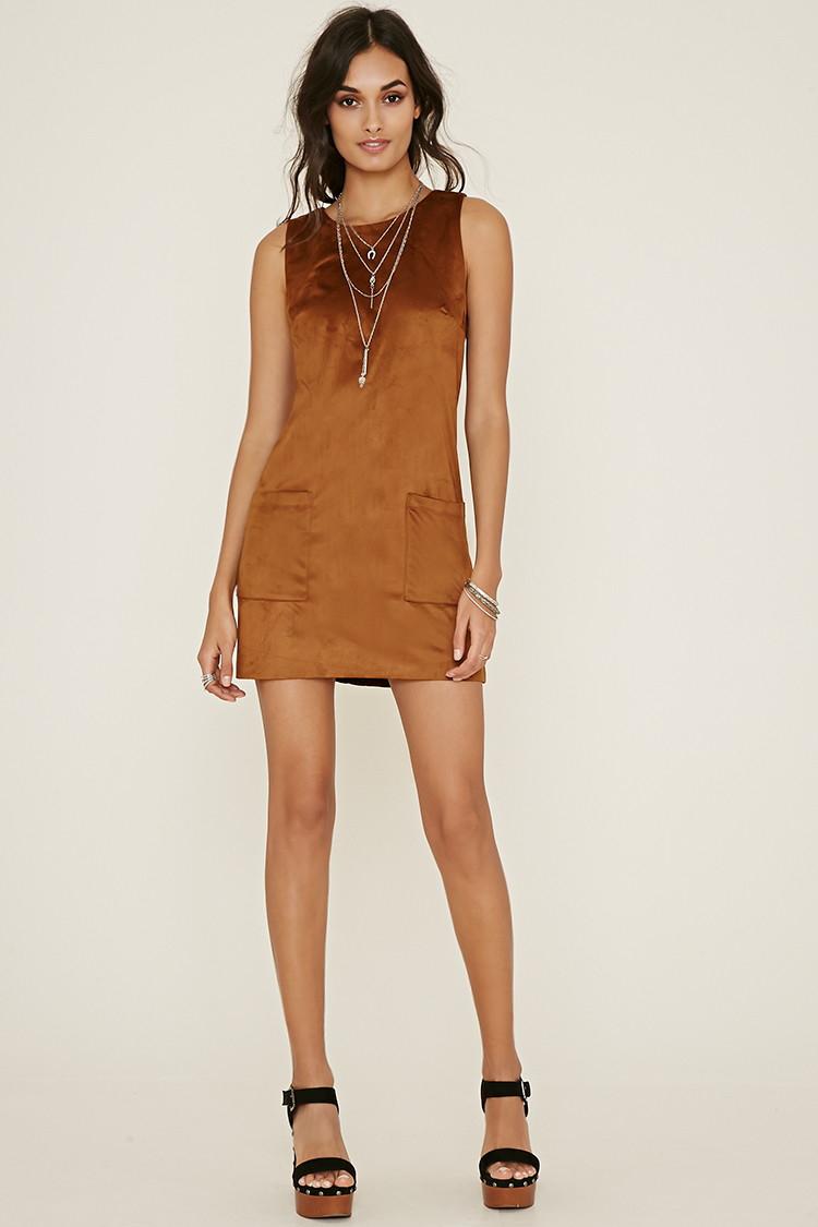 Brown Fringe Dress Forever 21