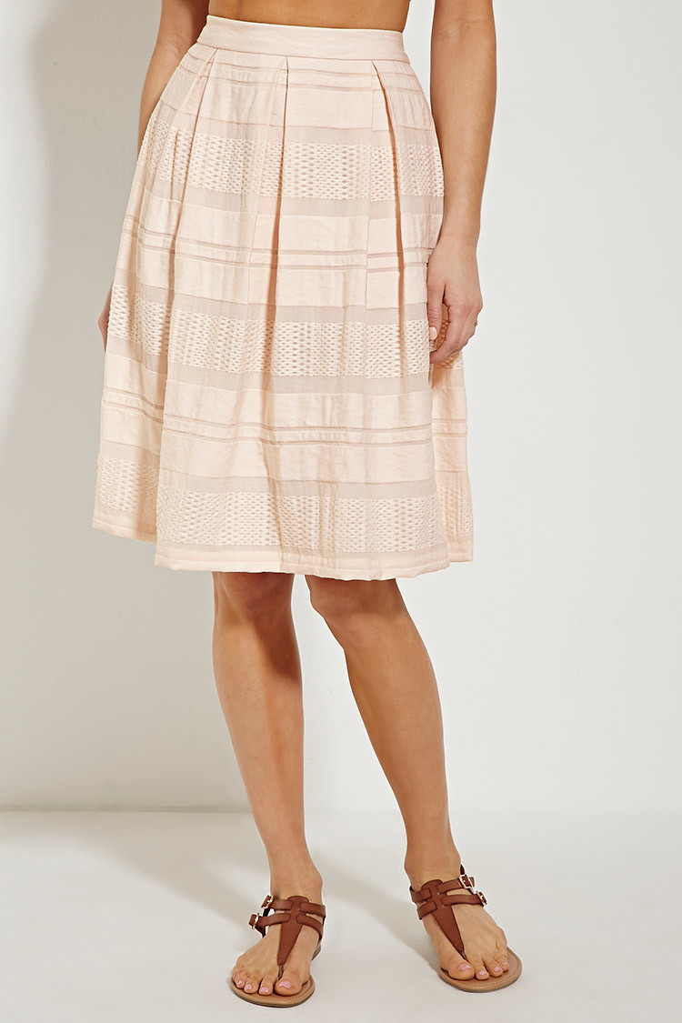 3cddda952 Forever 21 Contemporary Pleated Skirt in Pink - Lyst