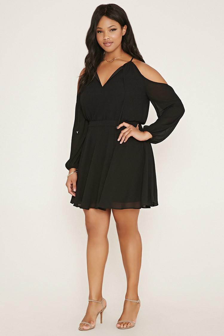 Forever 21 black dress plus size