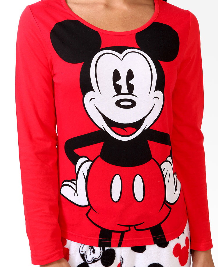 Lyst Forever 21 Mickey Mouse 174 Pj Set You Ve Been Added