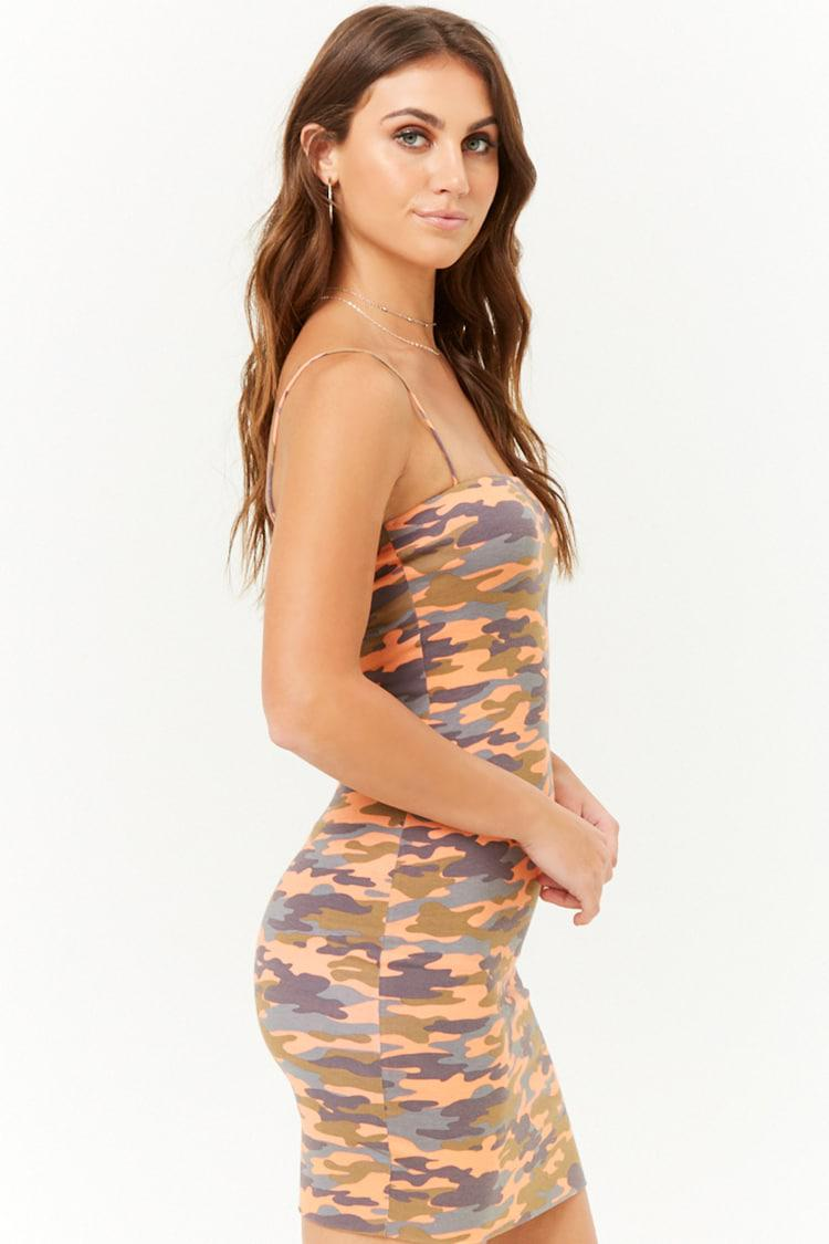 a3cb228242e ... Camo Cami Mini Dress - Lyst. View fullscreen
