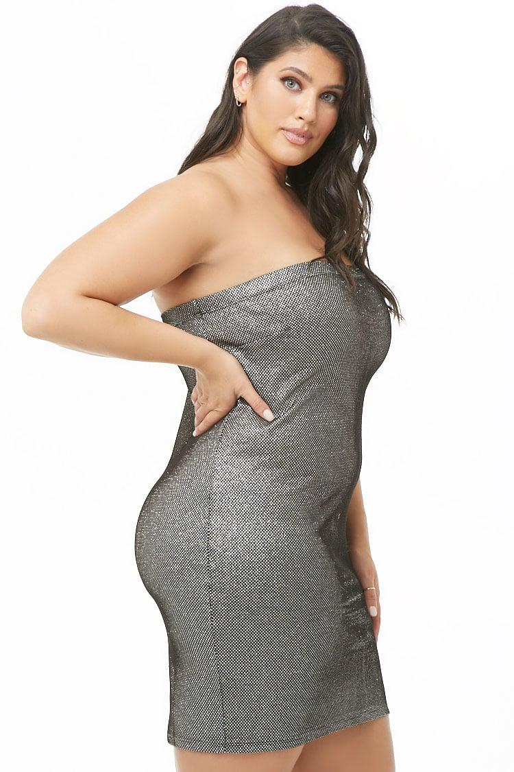 d107a2fd7e Forever 21 - Women s Plus Size Metallic Tube Dress - Lyst. View fullscreen