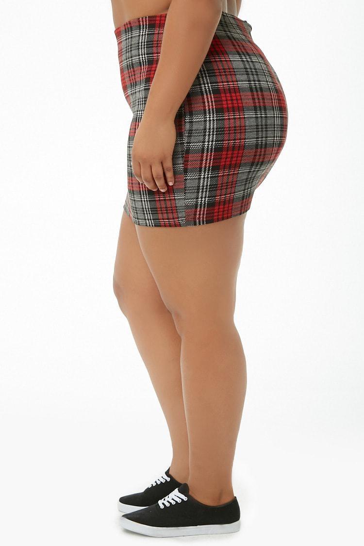 fce0261deb Plus Size Red Plaid Mini Skirt – DACC