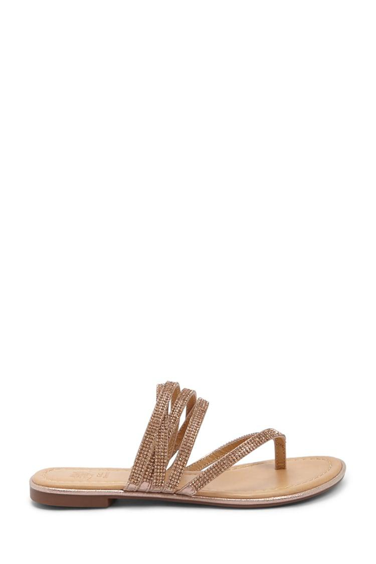 47456937aea8be Forever 21. Women s Faux Gem Strappy Thong Sandals