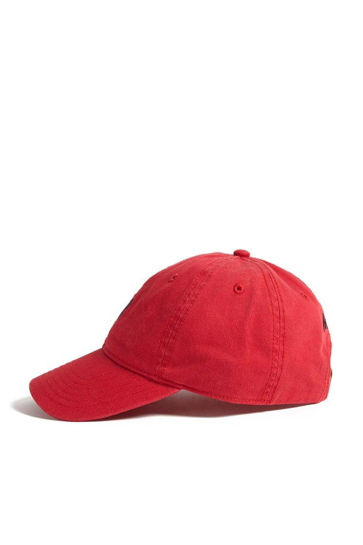 Lyst - Forever 21 Mickey Mouse Graphic Denim Dad Cap in Red c4f14b536648
