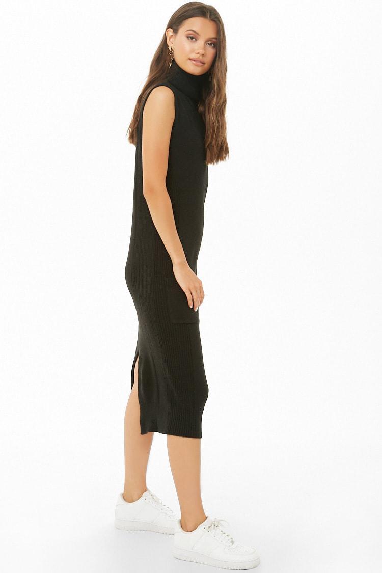 9c0d16768c959 ... Black Midi Sweater Dress - Lyst. View fullscreen