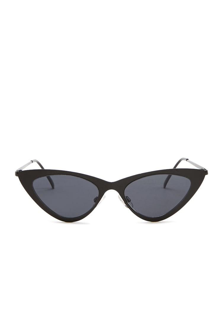 ce8d47037 Lyst - Forever 21 Premium Cat-eye Sunglasses in Black