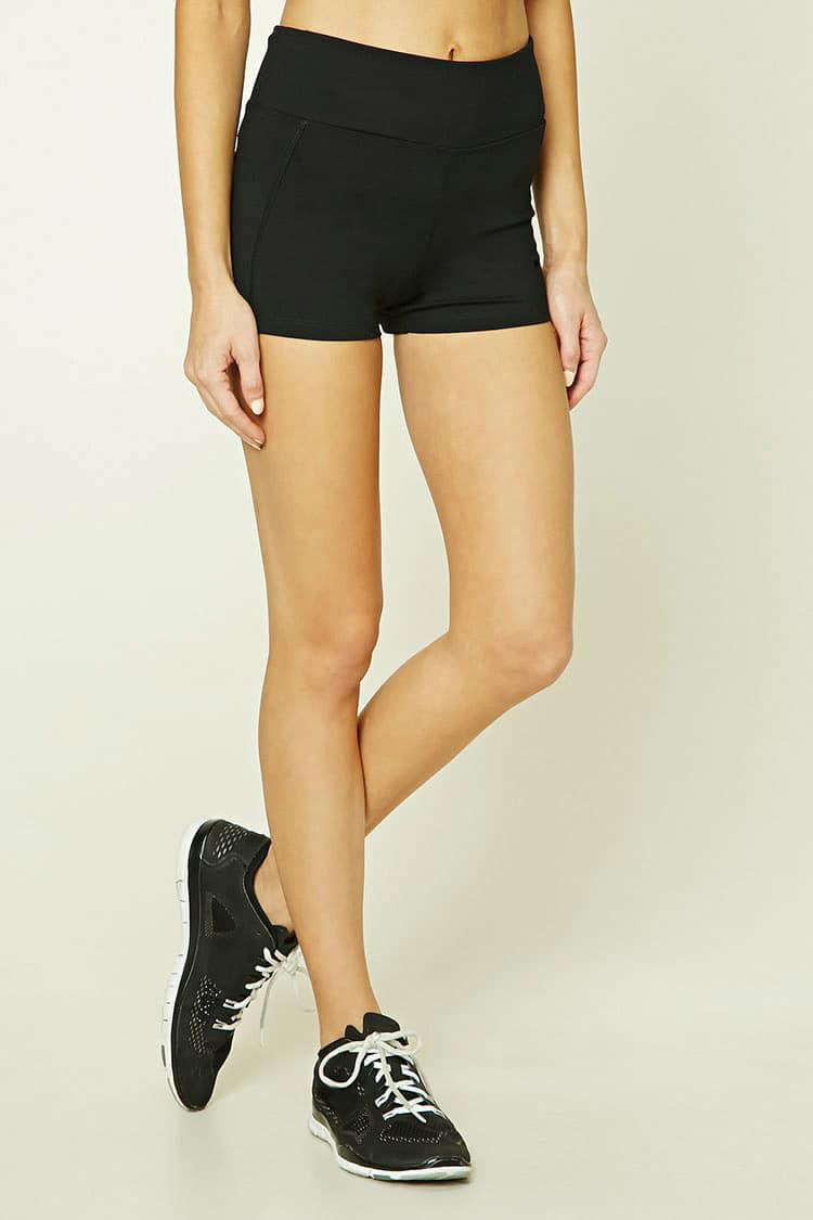 Forever 21. Women's Black Active Stretch-knit Shorts
