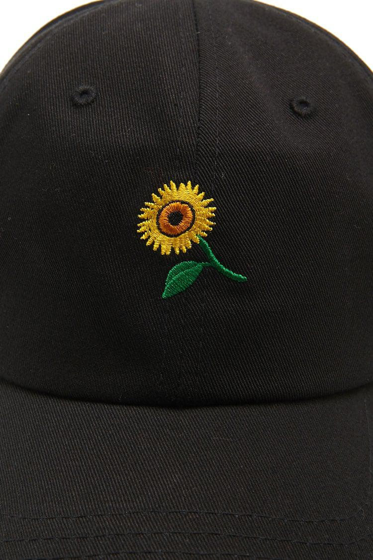 Lyst - Forever 21 Sunflower-embroidered Dad Cap in Black for Men 8b59e18607a