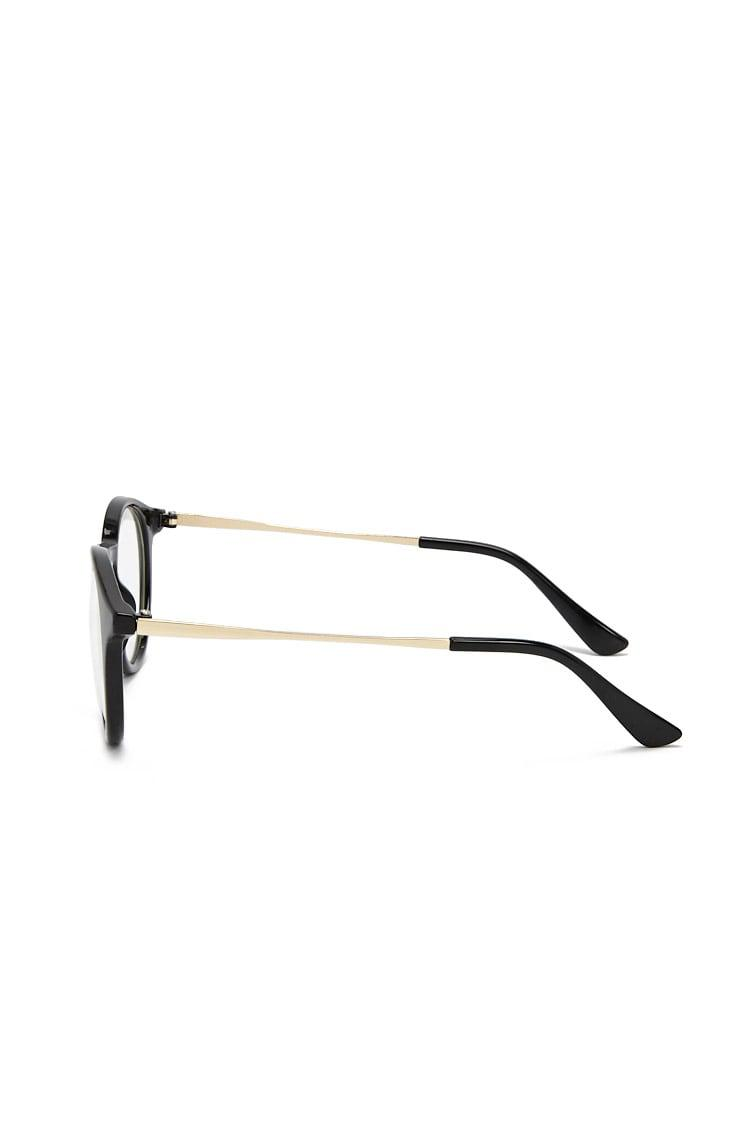 69b36cd234 Forever 21 - Black Contrast Round-eye Reader Glasses - Lyst. View fullscreen