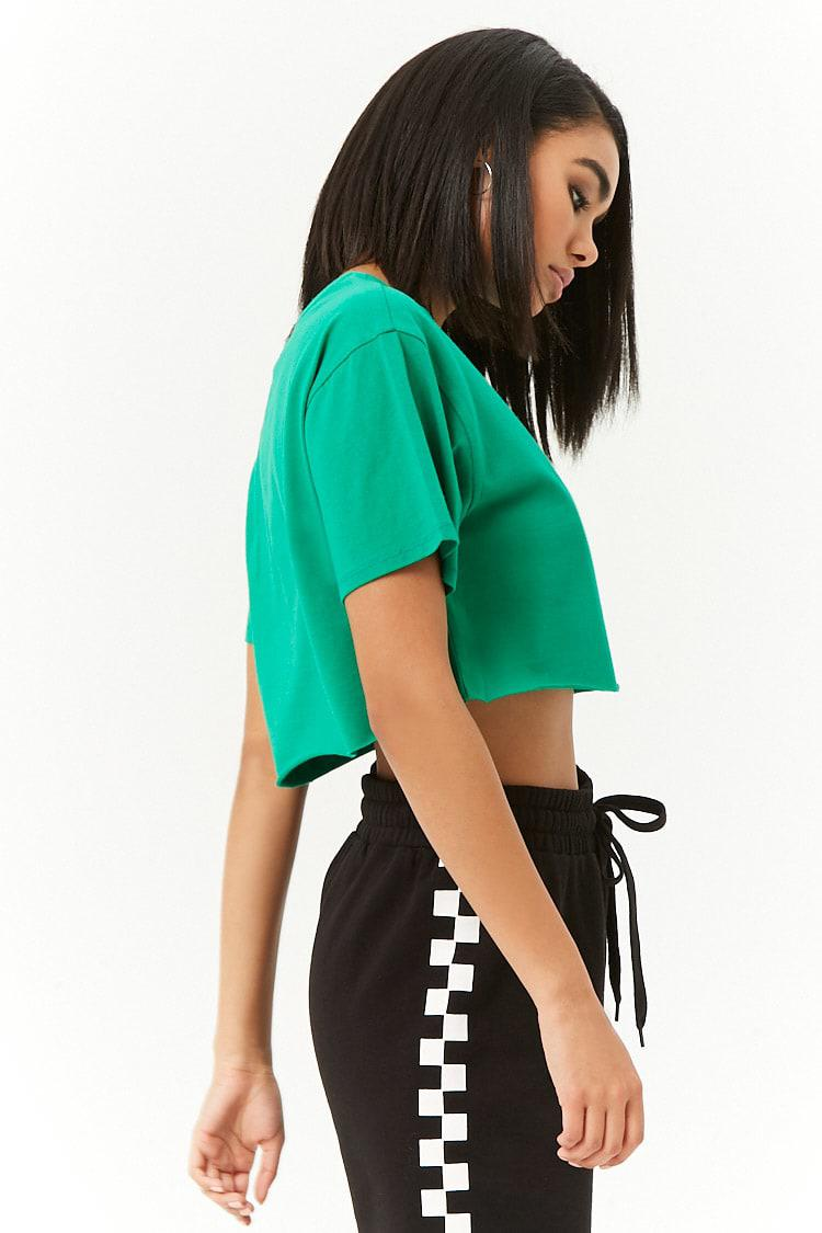 9eab07864c075a Lyst - Forever 21 Pony Cropped Graphic Tee in Green
