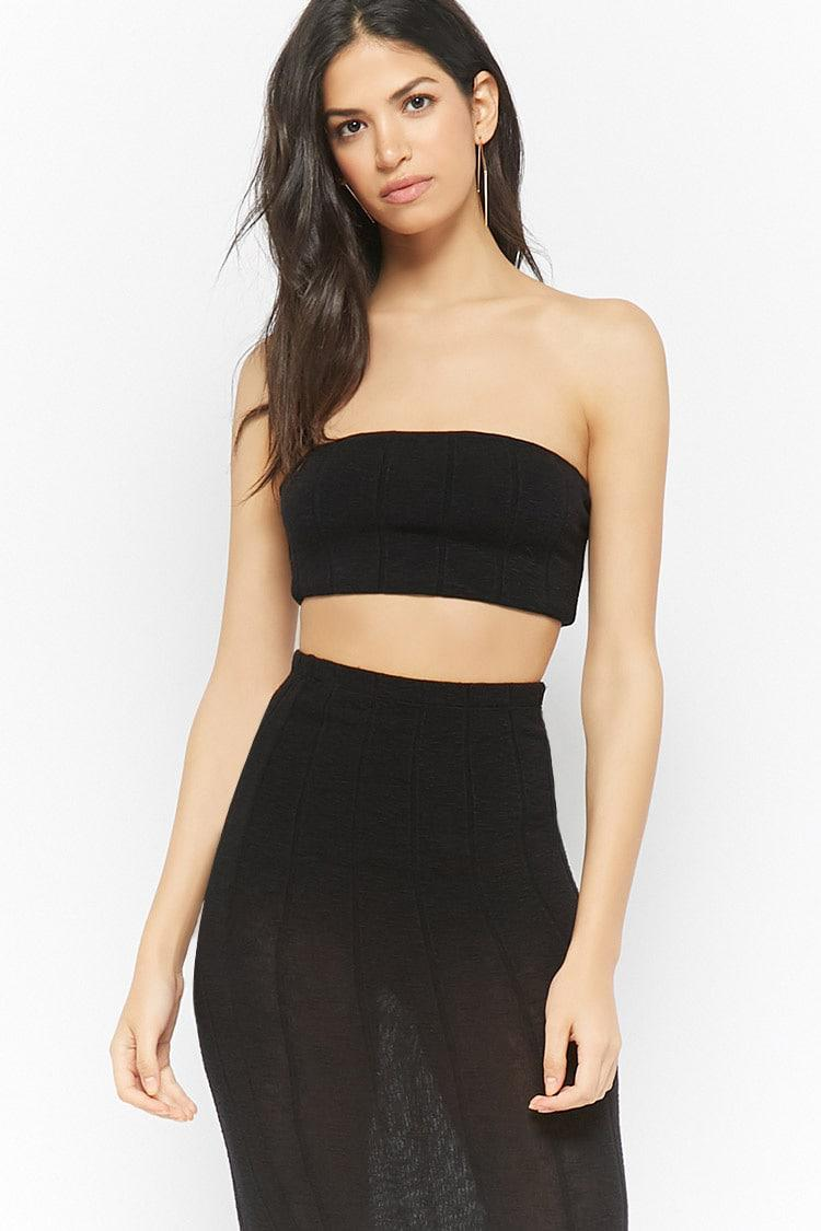 a23fd0d0557 Lyst - Forever 21 Ribbed Tube Top in Black